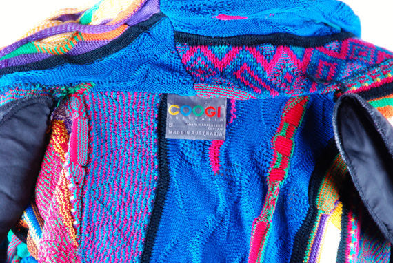 Coogi Sweater || Cropped Cardigan in Perfect Condition, Small