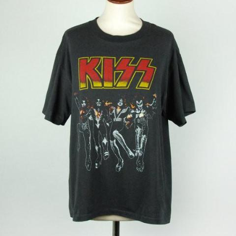 Original 1976 KISS Destroyer T-Shirt, EXCELLENT CONDITION - Desert Moss