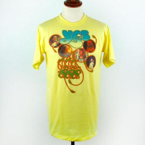 1977 YES T-Shirt, LARGE, Perfect Condition - Desert Moss