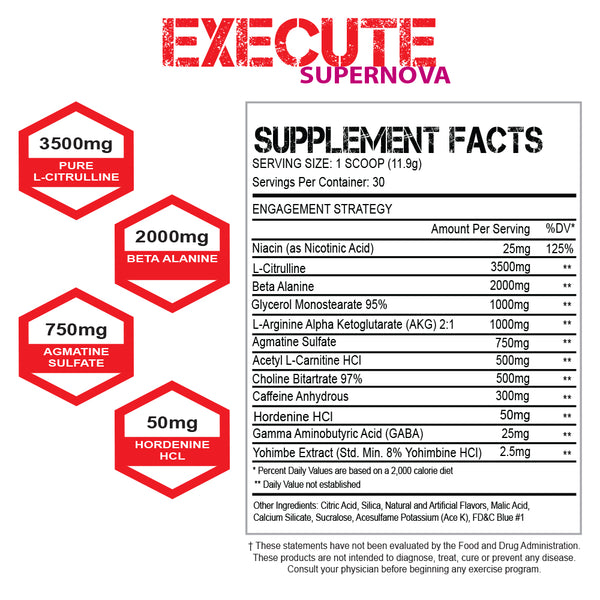 Execute Supernova Preworkout