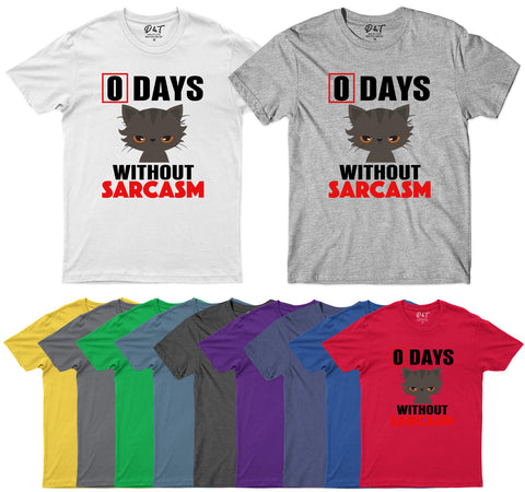 0 Days Without Sarcasm Funny Gift Mens T-Shirt-Gildan-Daataadirect.co.uk