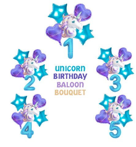 Unicorn Bouquet Balloons Party Supplies Balloons Birthday Party Decorations Kit-Puppy Kitty Balloons-Daataadirect.co.uk
