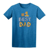 #1 Best Dad Mens T Shirts-t-shirts-Gildan-Antique Sapphire-S-Daataadirect