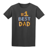 #1 Best Dad Mens T Shirts-t-shirts-Gildan-Charcoal-S-Daataadirect