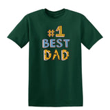 #1 Best Dad Mens T Shirts-t-shirts-Gildan-Forest Green-S-Daataadirect