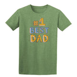 #1 Best Dad Mens T Shirts-t-shirts-Gildan-Heather Military Green-S-Daataadirect