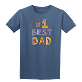 #1 Best Dad Mens T Shirts-t-shirts-Gildan-Indigo Blue-S-Daataadirect