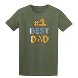 #1 Best Dad Mens T Shirts-t-shirts-Gildan-Military Green-S-Daataadirect