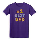 #1 Best Dad Mens T Shirts-t-shirts-Gildan-Purple-S-Daataadirect