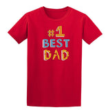 #1 Best Dad Mens T Shirts-t-shirts-Gildan-Red-S-Daataadirect