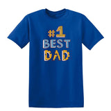 #1 Best Dad Mens T Shirts-t-shirts-Gildan-Royal Blue-S-Daataadirect