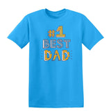 #1 Best Dad Mens T Shirts-t-shirts-Gildan-Sapphire-S-Daataadirect