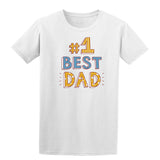 #1 Best Dad Mens T Shirts-t-shirts-Gildan-White-S-Daataadirect
