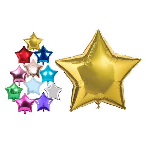 "10"" Star Shape Foil Balloons For Party Wedding Birthday Party Decor Baby Shower-Puppy Kitty Balloons-Daataadirect.co.uk"