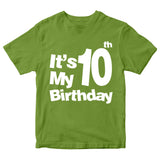 It's My 10th Birthday T-Shirt Customized Birthday Year Kid's T-Shirts-Gildan-Daataadirect.co.uk