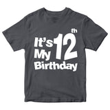 It's My 12th Birthday T-Shirt Customized Birthday Year Kid's T-Shirts-Gildan-Daataadirect.co.uk