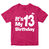 It's My 13th Birthday T-Shirt Customized Birthday Year Kid's T-Shirts-Gildan-Daataadirect.co.uk