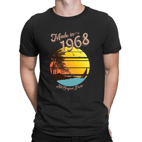 Made in 1968 All Original Parts 51 Birthday Gift Present Mens T Shirt-Gildan-Daataadirect.co.uk
