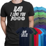 Dad I Love You 3000 Mens T-Shirt-Gildan-Daataadirect.co.uk