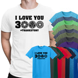 Dad I Love You 3000 Thankstony Mens T-Shirts-Gildan-Daataadirect.co.uk
