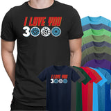 Iron Man I Love You 3000 Mens T-Shirt-Gildan-Daataadirect.co.uk