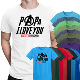 Papa I Love You 3000 Mens T Shirt-Gildan-Daataadirect.co.uk