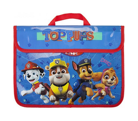 "Official PAW Patrol ""Top Pups Team"" Character School Book Bag-World of Hosiery-Daataadirect.co.uk"