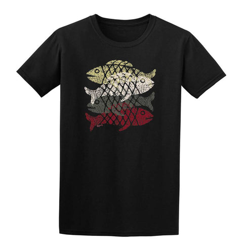 4 FISH ETHNIC Mens T-Shirt-Gildan-Daataadirect.co.uk