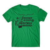 The Christmas Stressed Blessed T-Shirt-Gildan-Daataadirect.co.uk