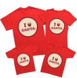 Merry Christmas Gift I Love Santa T-Shirt-Gildan-Daataadirect.co.uk