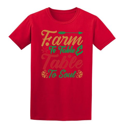 Farm to table table to soul Christmas T-Shirt-Gildan-Daataadirect.co.uk