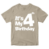 It's My 4th Birthday T-Shirt Customized Birthday Year Kid's T-Shirts-Gildan-Daataadirect.co.uk