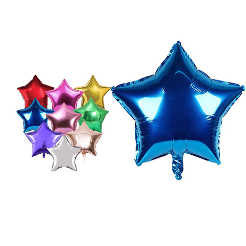 "5"" Star Shape Foil Balloons For Party Wedding Birthday Party Decor Baby Shower-Puppy Kitty Balloons-Daataadirect.co.uk"