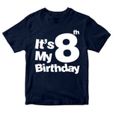 It's My 8th Birthday T-Shirt Customized Birthday Year Kid's T-Shirts-Gildan-Daataadirect.co.uk