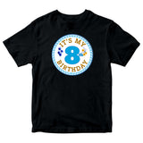 Personalised Boys 3-13 Years Old Its My Birthday T-shirt-Gildan-Daataadirect.co.uk