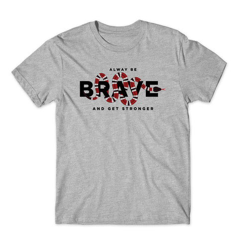Always Be Brave And Get Stronger Christmas Gift T-Shirt-Gildan-Daataadirect.co.uk