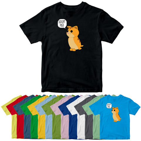 Adopt Me Ginger Cat Kids T Shirt Funny T-Shirt-Gildan-Daataadirect.co.uk