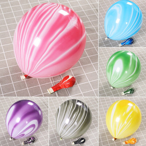 "Marble 10"" Effect Balloons Super Agate Wedding Birthday-Puppy Kitty Balloons-Daataadirect.co.uk"