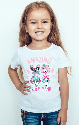Amazing Different Cartoons Logo Kids Girls T-Shirt-Gildan-Daataadirect.co.uk