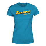 Awesome Since 1980 40th Birthday Womens T-Shirt-Gildan-Daataadirect.co.uk