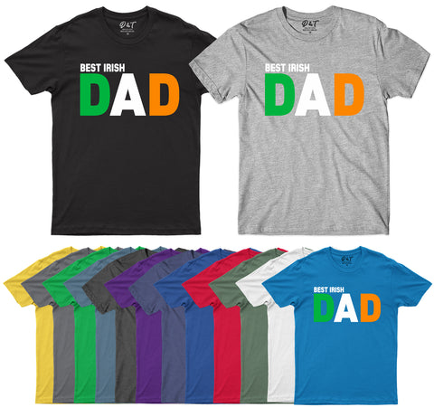 Best Irish Dad Ireland Fathers Day Mens T-Shirt-Gildan-Daataadirect.co.uk