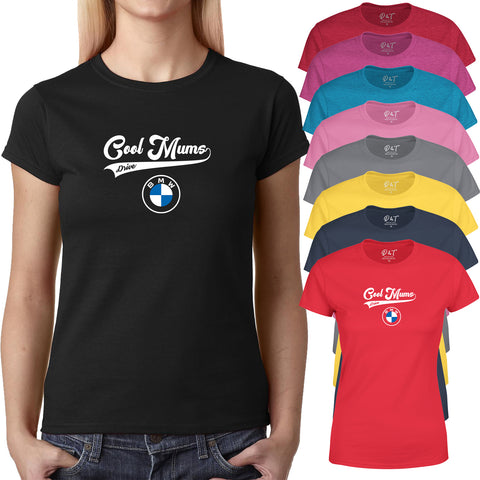 Cool Mums Drive Womens T Shirt Mothers Day Best Gift-Gildan-Daataadirect.co.uk