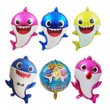 Baby Shark Aluminum Foil Balloon Baby Shark Family Aluminum Foil Balloon-Puppy Kitty Balloons-Daataadirect.co.uk