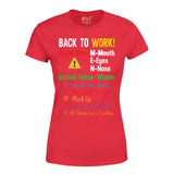 Funny Avoid Men Follow Women Back to Work After Lockdown Women T-Shirt-Gildan-Daataadirect.co.uk