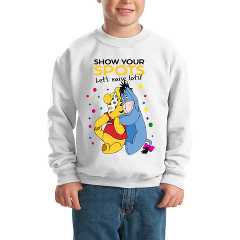 Bear and Eeyore Pudsey Bear - Kids SweatShirt-Gildan-Daataadirect.co.uk