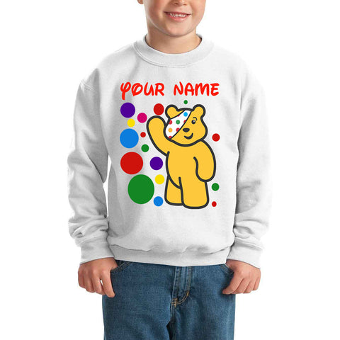 Pudsey Bear Spotty Day - Kids SweatShirt-Gildan-Daataadirect.co.uk