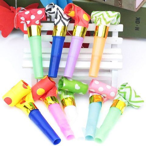 3 Inch Party Toys Plastic Small Blow Dragon Whistle Cheer Leading Birthday Party Toy-Puppy Kitty Balloons-Daataadirect.co.uk