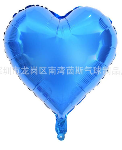 18 Inch Heart Shaped Aluminum Foil Wedding Room Birthday Party Balloons-Puppy Kitty Balloons-Daataadirect.co.uk