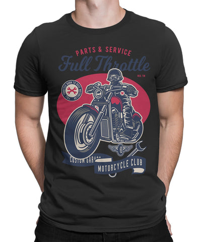 Born to Race Motorcycle Club Custom Garage Mens T-Shirt-FULL THROTTLE™-Daataadirect.co.uk