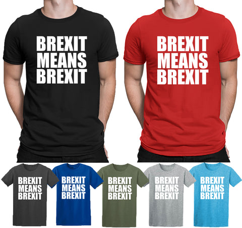 Brexit Political Britain Europe Leave T-Shirts-Gildan-Daataadirect.co.uk